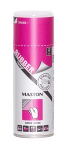 Kumimaalispray RUBBERcomp Neon Punainen matta 400ml