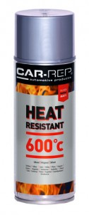 Spraypaint Car-Rep Heatresistant Silver 600C 400ml