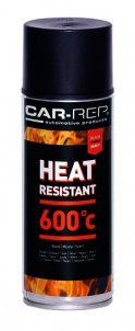 Spraypaint Car-Rep Heatresistant Black 600C 400ml