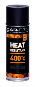 Spraypaint Car-Rep Heatresistant Black 400C 400ml