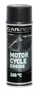 Spraypaint Car-Rep Motorcycle Engine Satin Black 400ml heat res.260C
